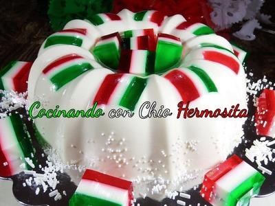 Gelatina de Banderitas Mexicanas para Fiestas Patrias