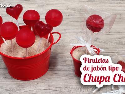 HACER PIRULETAS DE JABON TIPO CHUPA CHUP