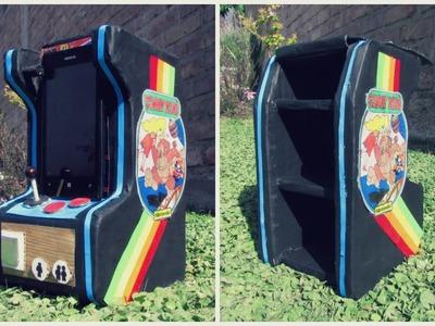 Mini mueble de cartón retro: Arcade game ♥  (mueble porta celular)