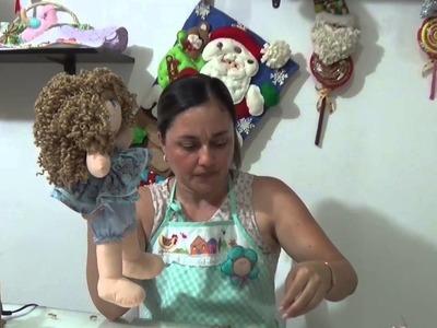 MUÑECA DE TRAPO CABELLO Y ZAPATOS PARTE 11