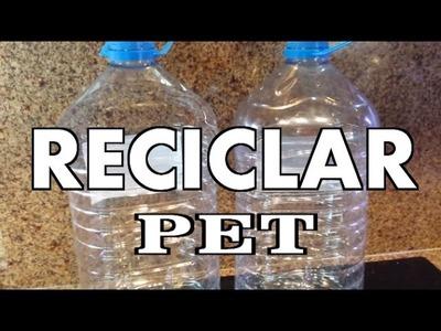 RECICLANDO BOTELLAS PET PLASTICAS