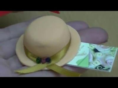 Souvenirs para 15 años. sombrero porcelana fría