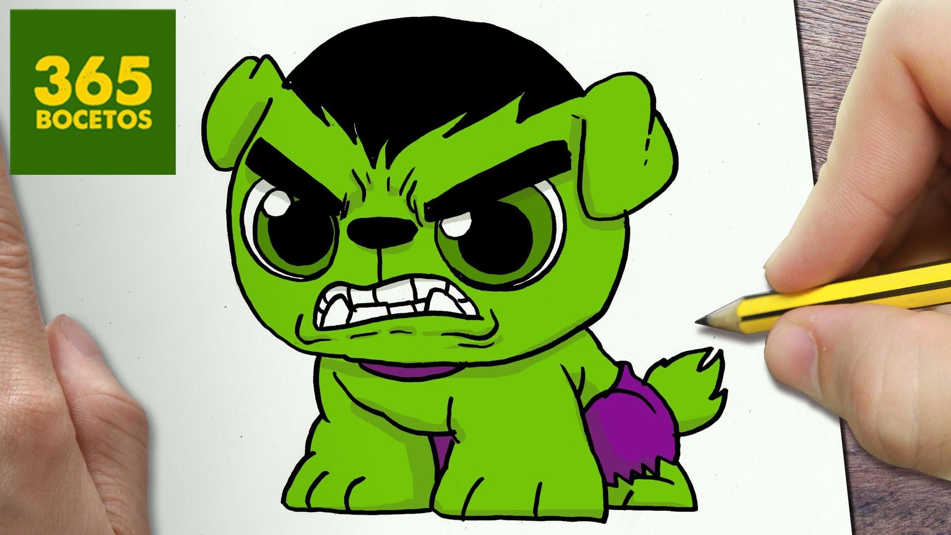 Como Dibujar Un Perro Hulk Kawaii Paso A Paso Dibujos Kawaii