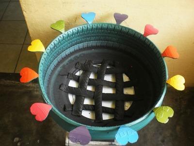Como hacer macetas con llantas recicladas