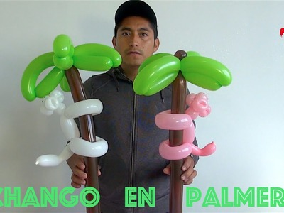 Como hacer un changuito en su palmera con globos 260 # 57