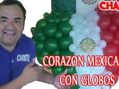 Corazon MEXICANO con globos 3D GLOBOS CHASTY