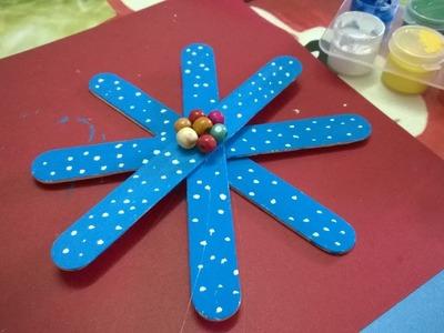 DIY - copos de nieve Uso Paletas palillo de adornos - Navidad