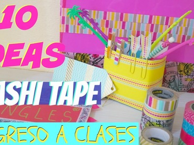 DIY REGRESO A CLASES ✏️10 IDEAS CON WASHI TAPE✏️por FantasticAzul