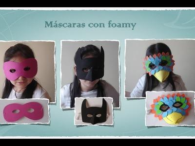 Máscaras con foamy o goma eva