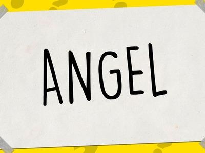 SACAR UN DIBUJO DE MI NOMBRE - Dibujos fáciles paso a paso – ANGEL