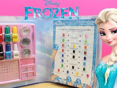 Set de manicura de FROZEN Uñas Creativas | Juguetes de Frozen en español | Manicura para niñas
