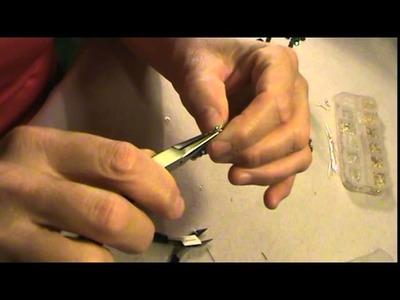 Como hacer aretes de bisuteria.