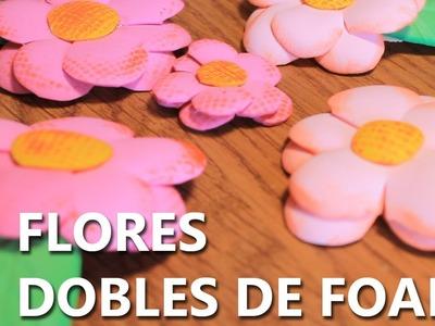 COMO HACER FLORES DE FOAMI O GOMA EVA FACILES Y BONITAS - ITA.ENG.POR SUB