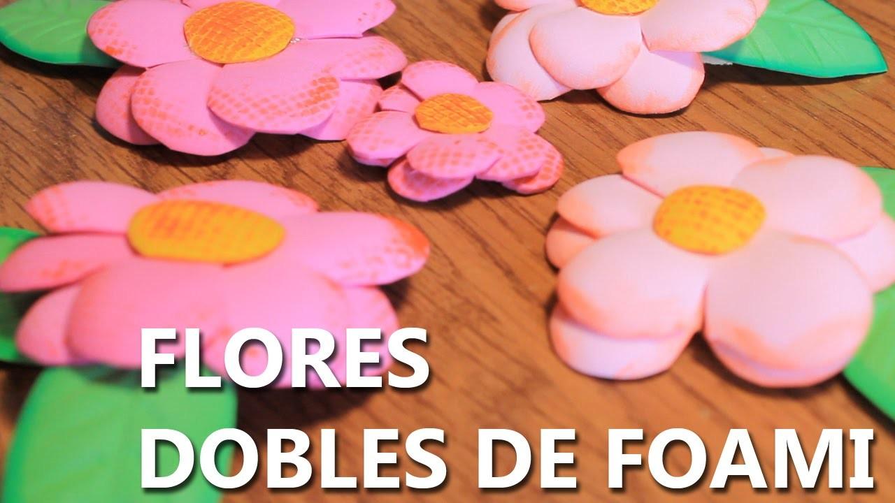 Como hacer flores de foami o goma eva faciles y bonitas - Manualidades faciles de hacer y bonitas ...