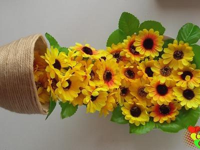 Como hacer una taza flotante en papel mache con flores