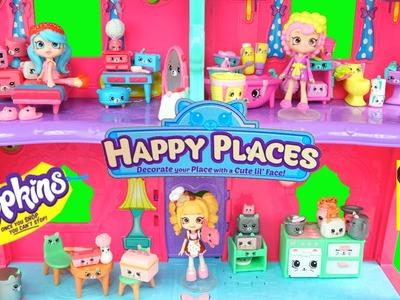 Decorando Casa de Muñecas con Muebles de Shopkins HAPPY PLACES  - Juguetes Shopkins