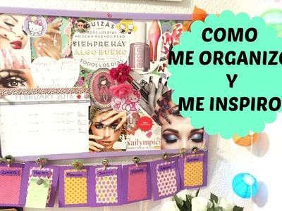 Tablero de Inspiración y Como me organizo en Youtube