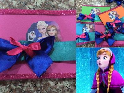 Tarjeta de invitacion Frozen, super facil de hacer