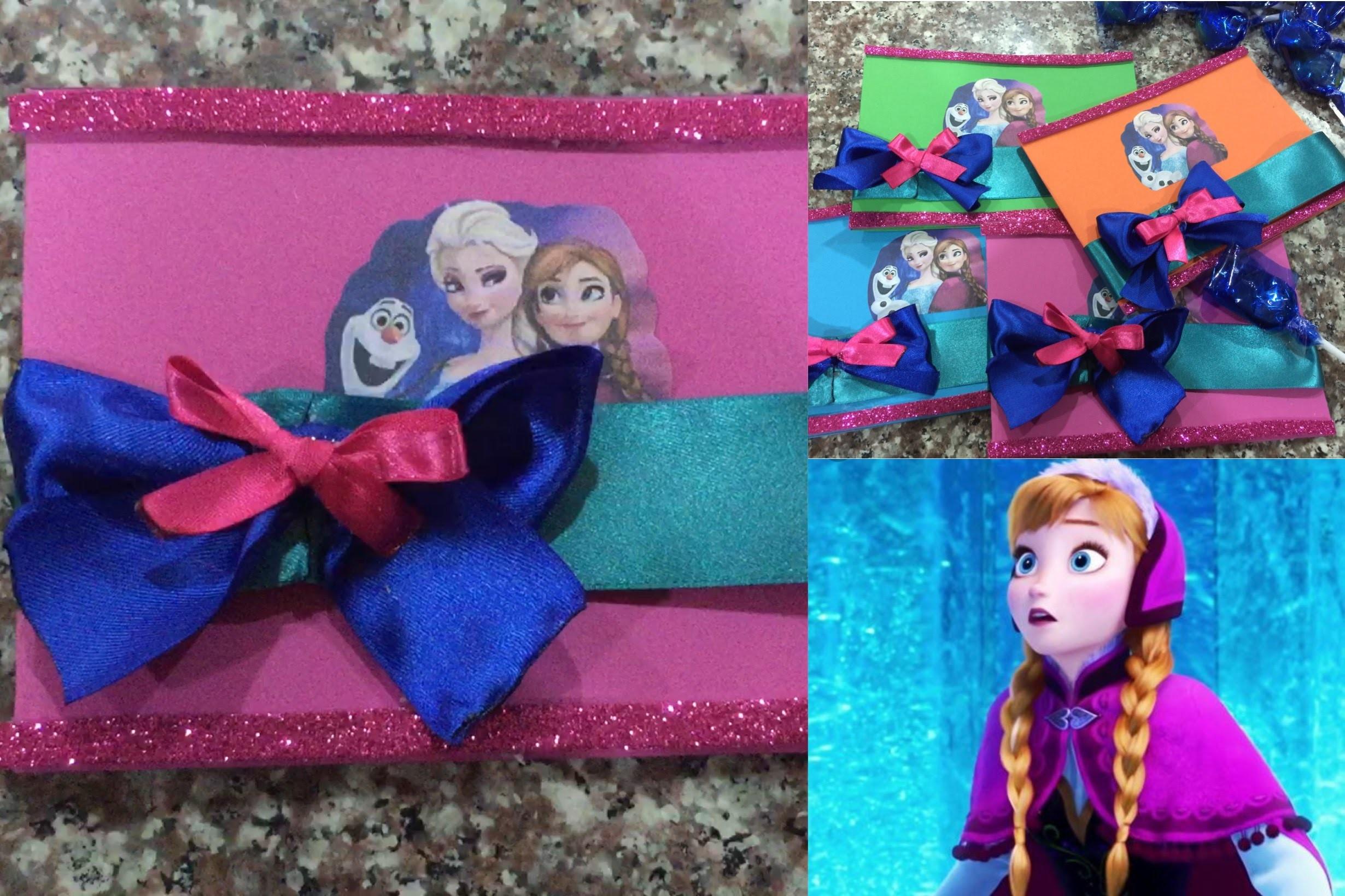 Tarjeta De Invitacion Frozen Super Facil De Hacer