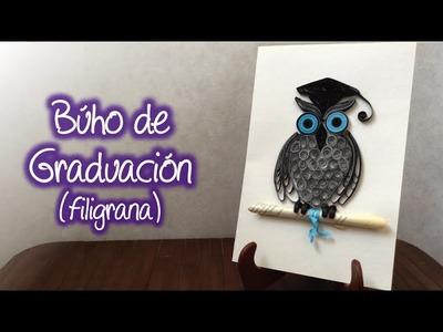 Búho de graduación ( filigrana de papel ).