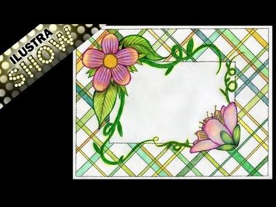 Como dibujar Decorar Carta de Amor Flores ILUSTRA SHOW
