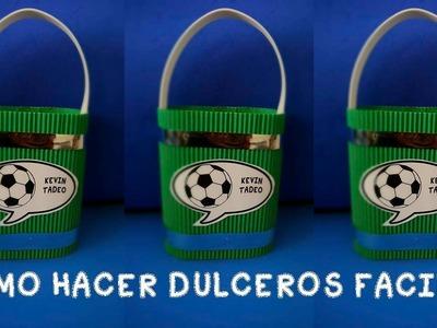 COMO HACER DULCEROS FACILES DE FUT.cotillones economicos