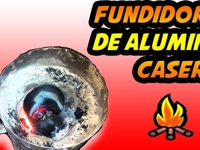 Como hacer un mini horno de fundición para latas de aluminio- Exp Locos