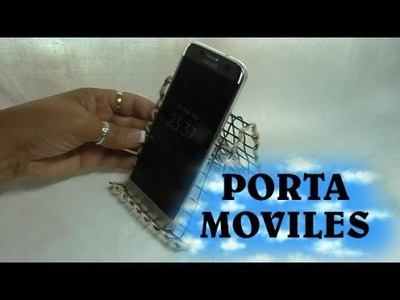 Como Hacer Un Porta Movil sin costo -BASIS FOR CELL FREE .