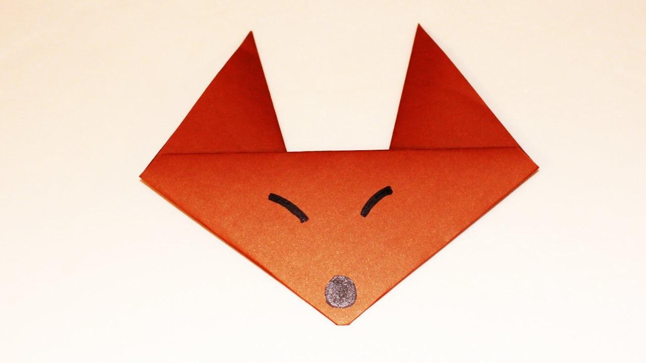 Como hacer un zorro de papel animales de papel zorro for Como aser un criadero de mojarras