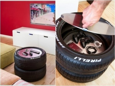 Como hacer una mesa de centro con neumaticos pirelli.(How to make a coffee table with Pirelli tires)