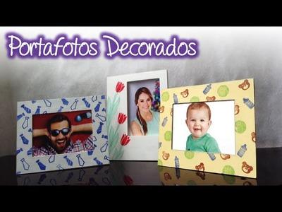 Fabrica un portafotos con los sellos y tintas para decorarlo