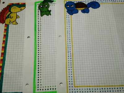 Margenes kawaii para tus cuadernos. Pokemon GO.fácil y rápido
