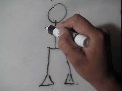 Ponle cuerpo a tus personajes - Dibujar caricatura improvisada 2 - Dibujos a Lapiz