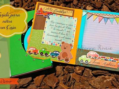 Tarjeta para Niños con Caja decorativa