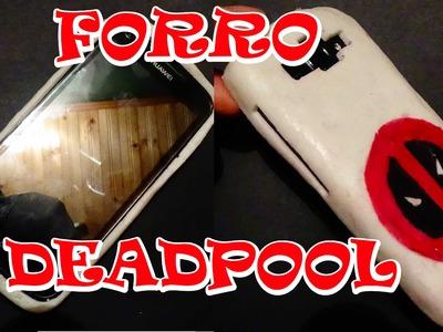 Como hacer un forro de silicona  para celular de deadpool - DIY