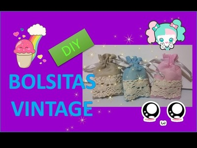 DIY Morralitos Vintage Super Facil!!!