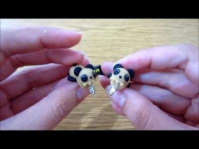 Broqueles gatitos y Pandas PEDIDO PERSONALIZADO