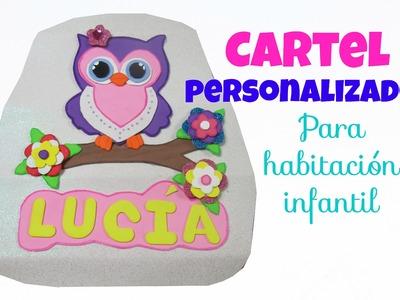 Cartel personalizado para habitación infantil