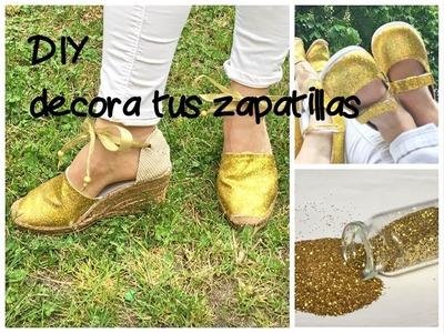 """Cómo decorar zapatillas a lo """"princesa""""."""