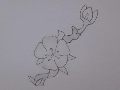 Cómo dibujar una flor de cerezo