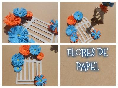 Como hacer flores de papel fácil y rápido