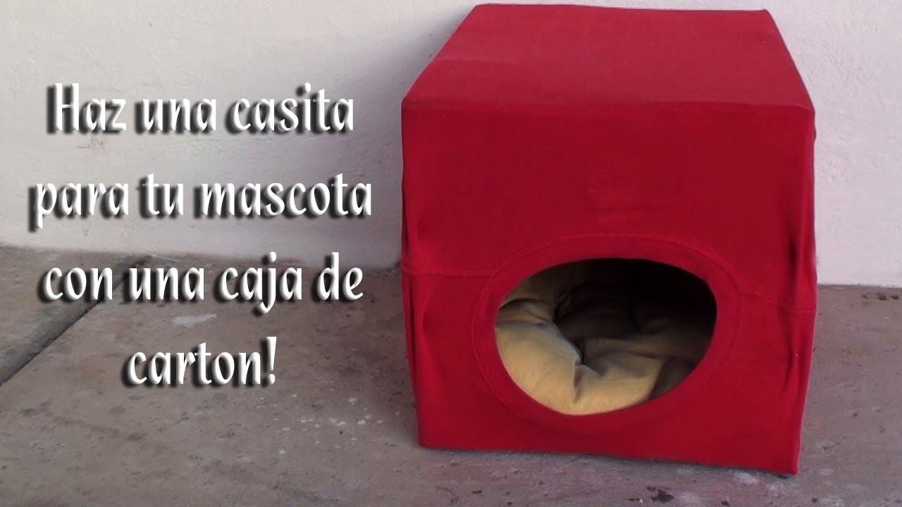 Como hacer una camita para sus mascotas con una caja de carton