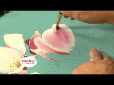 Como pintar cuadro de flores al Oleo
