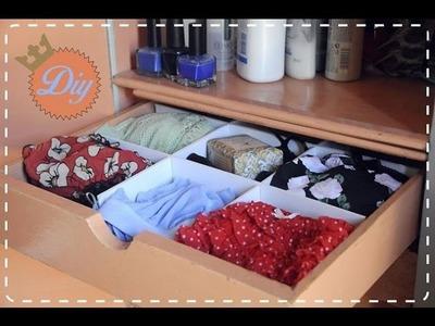 DIY Como hacer un organizador de ropa interior