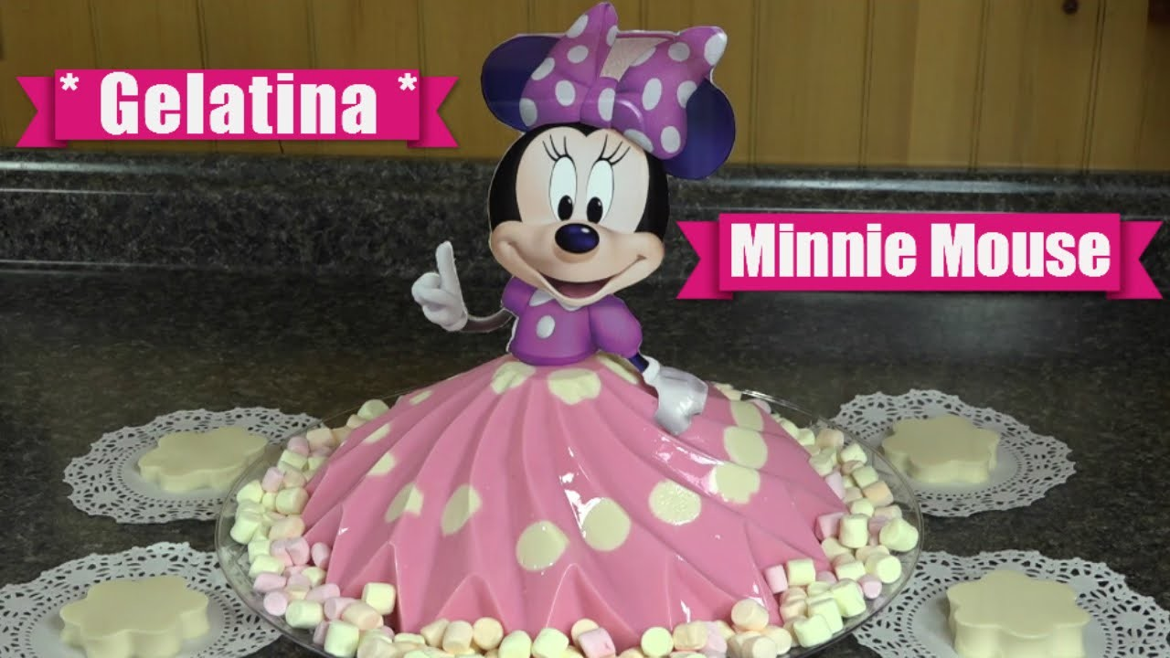 Gelatina de Minnie Mouse. De Yogurt y Tres Leches . Casayfamiliatv