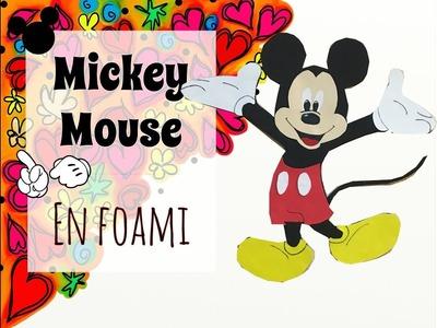 Mickey Mouse en foami