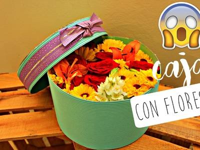 CAJA CON FLORES -REGALO ORIGINAL