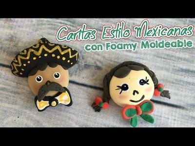 Caritas Mexicanas con Foamy Moldeable (Goma Eva) Mariachi :: Chuladas Creativas