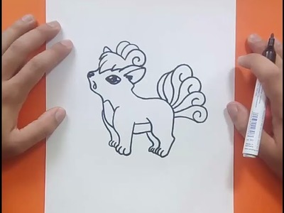 Como dibujar a Vulpix paso a paso - Pokemon | How to draw Vulpix - Pokemon