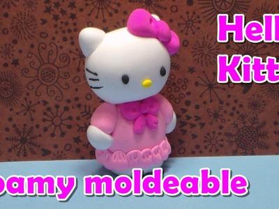 Como hacer a Hello Kitty en foamy moldeable